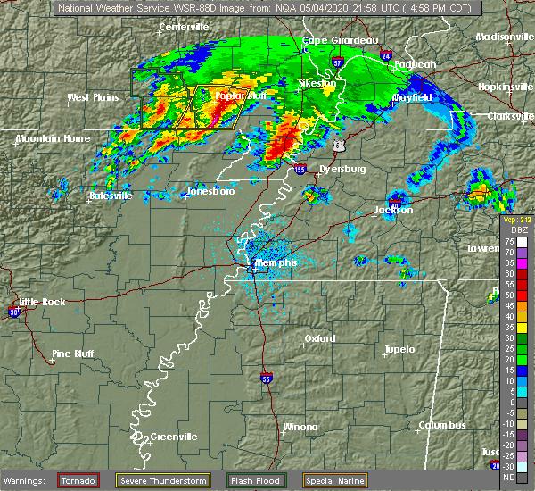 Radar Image for Severe Thunderstorms near Clarkton, MO at 5/4/2020 5:02 PM CDT