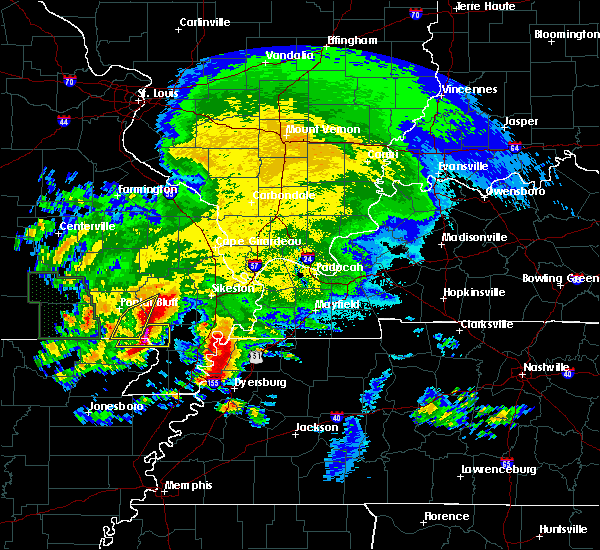Radar Image for Severe Thunderstorms near Portageville, MO at 5/4/2020 5:16 PM CDT