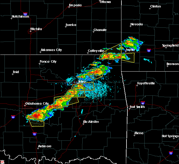 Radar Image for Severe Thunderstorms near Pryor Creek, OK at 5/4/2020 5:34 PM CDT