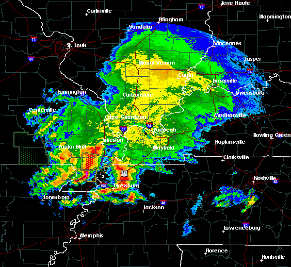 Radar Image for Severe Thunderstorms near Portageville, MO at 5/4/2020 5:40 PM CDT