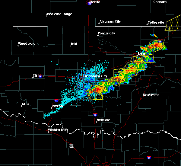 Radar Image for Severe Thunderstorms near Slaughterville, OK at 5/4/2020 5:42 PM CDT