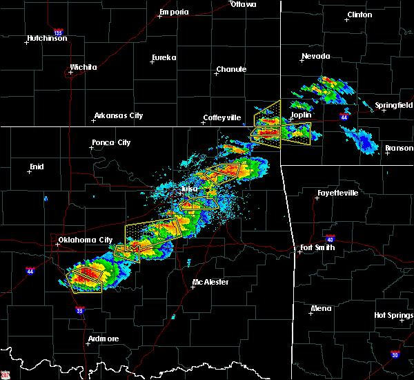 Radar Image for Severe Thunderstorms near Fair Oaks, OK at 5/4/2020 5:53 PM CDT