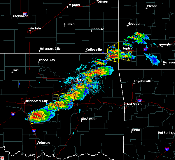 Radar Image for Severe Thunderstorms near Pryor Creek, OK at 5/4/2020 5:55 PM CDT