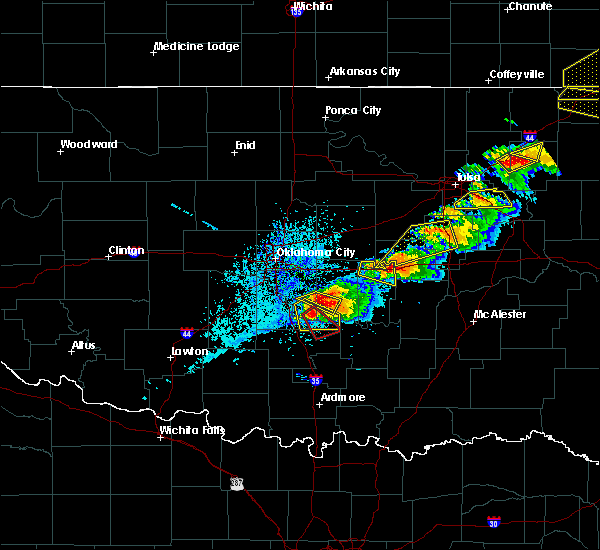 Radar Image for Severe Thunderstorms near Byars, OK at 5/4/2020 6:02 PM CDT