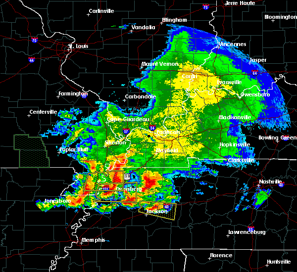 Radar Image for Severe Thunderstorms near Pascola, MO at 5/4/2020 6:08 PM CDT
