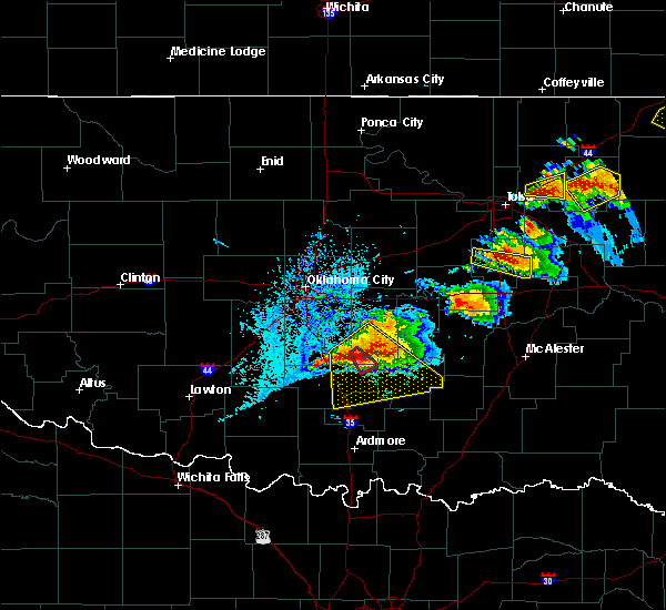 Radar Image for Severe Thunderstorms near Byars, OK at 5/4/2020 6:21 PM CDT