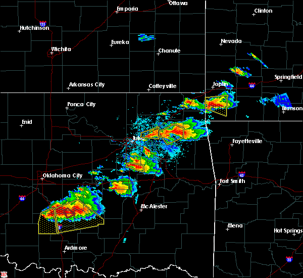 Radar Image for Severe Thunderstorms near Pryor Creek, OK at 5/4/2020 6:30 PM CDT