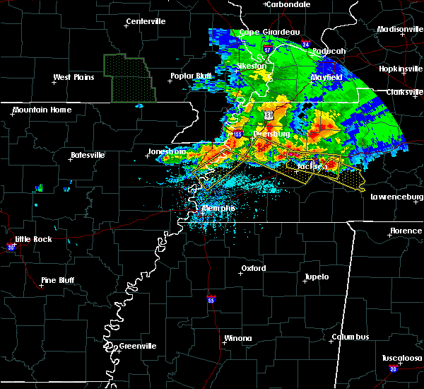 Radar Image for Severe Thunderstorms near Marie, AR at 5/4/2020 6:33 PM CDT