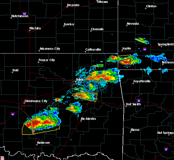 Radar Image for Severe Thunderstorms near Okmulgee, OK at 5/4/2020 6:40 PM CDT