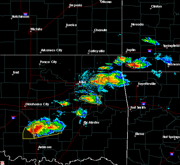 Radar Image for Severe Thunderstorms near Leach, OK at 5/4/2020 6:54 PM CDT
