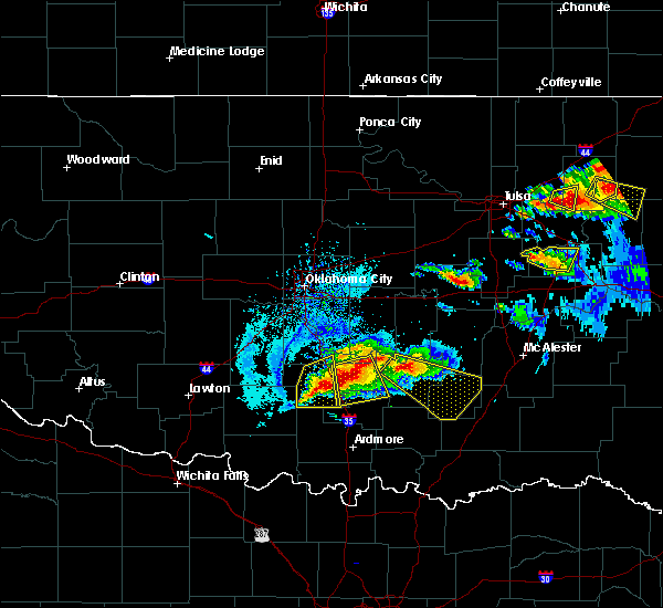 Radar Image for Severe Thunderstorms near Stonewall, OK at 5/4/2020 7:02 PM CDT