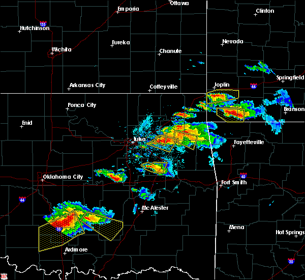 Radar Image for Severe Thunderstorms near Leach, OK at 5/4/2020 7:06 PM CDT