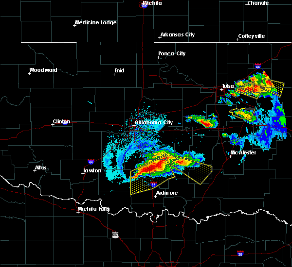 Radar Image for Severe Thunderstorms near Stonewall, OK at 5/4/2020 7:07 PM CDT