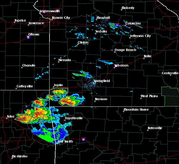 Radar Image for Severe Thunderstorms near Joplin, MO at 5/4/2020 7:14 PM CDT