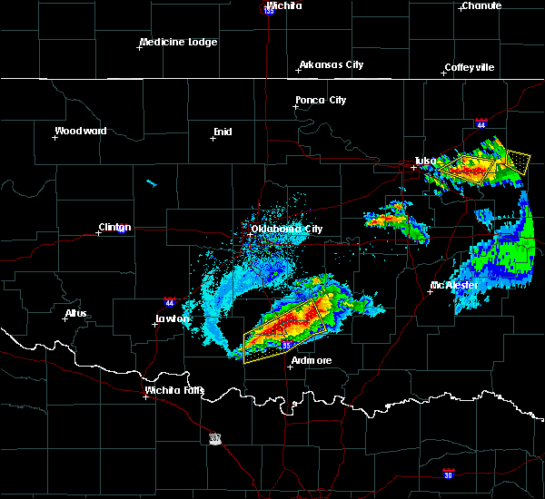 Radar Image for Severe Thunderstorms near Stonewall, OK at 5/4/2020 7:28 PM CDT