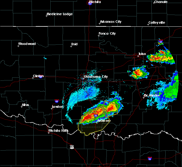 Radar Image for Severe Thunderstorms near Stonewall, OK at 5/4/2020 7:48 PM CDT