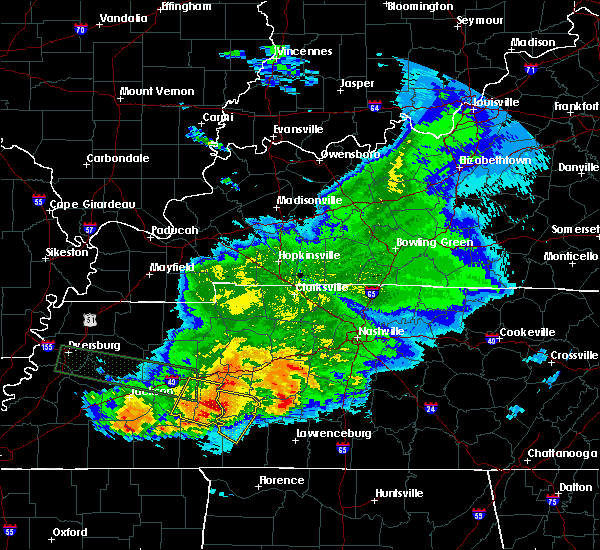 Radar Image for Severe Thunderstorms near Clifton, TN at 5/4/2020 7:48 PM CDT