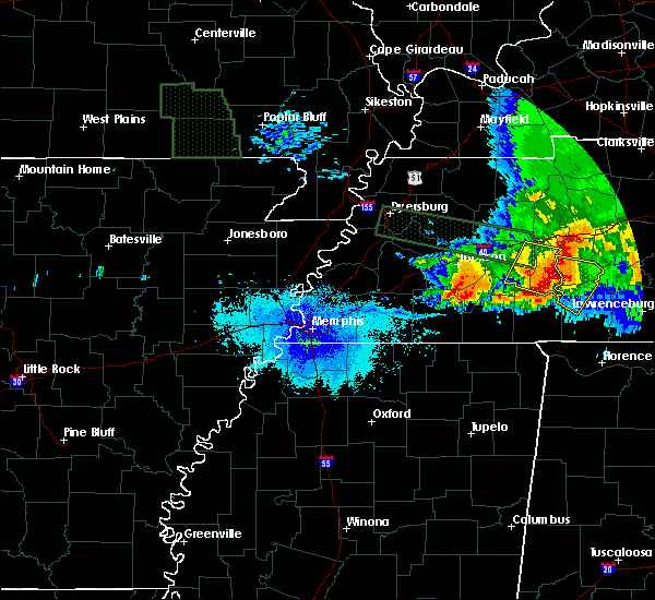 Radar Image for Severe Thunderstorms near Clifton, TN at 5/4/2020 7:51 PM CDT