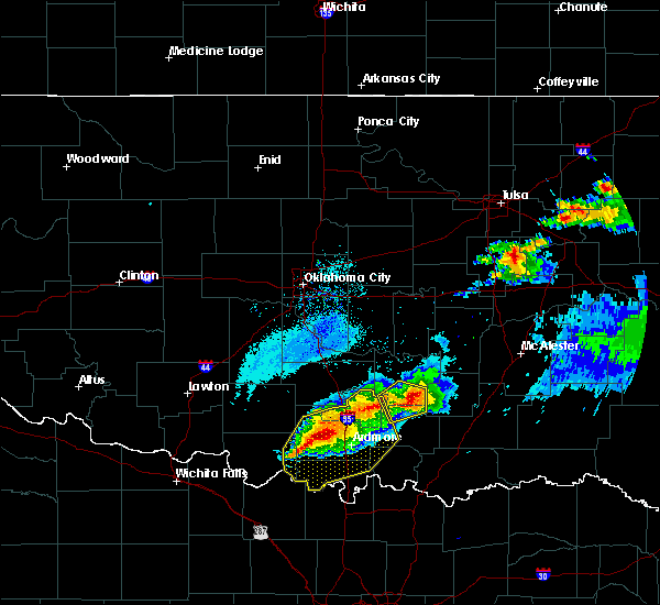Radar Image for Severe Thunderstorms near Stonewall, OK at 5/4/2020 8:00 PM CDT