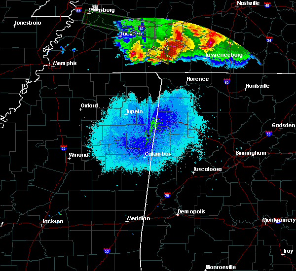 Radar Image for Severe Thunderstorms near Clifton, TN at 5/4/2020 8:05 PM CDT