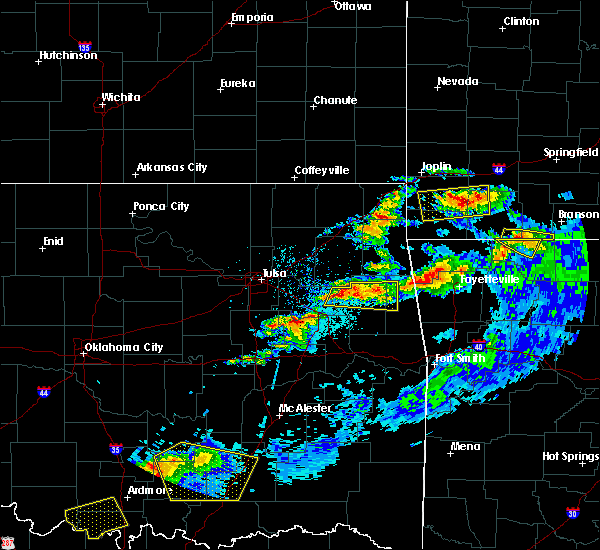 Radar Image for Severe Thunderstorms near Park Hill, OK at 5/4/2020 8:17 PM CDT