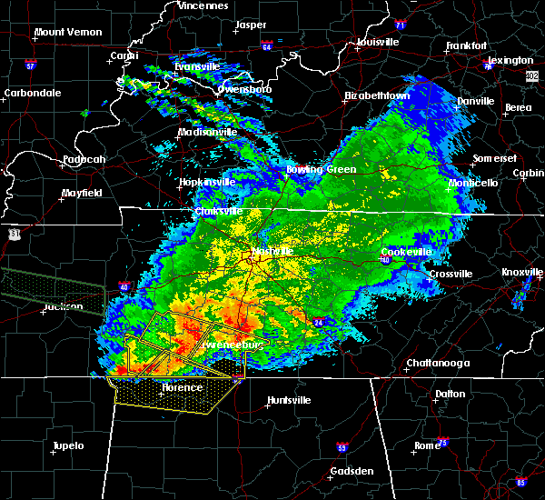 Radar Image for Severe Thunderstorms near Summertown, TN at 5/4/2020 8:43 PM CDT