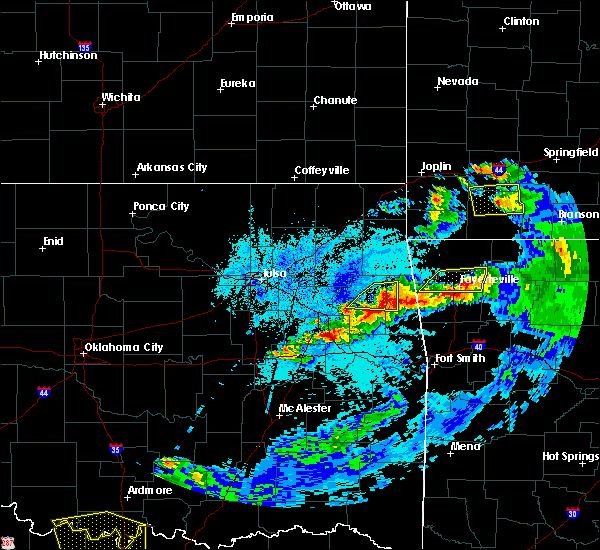 Radar Image for Severe Thunderstorms near Muskogee, OK at 5/4/2020 8:51 PM CDT