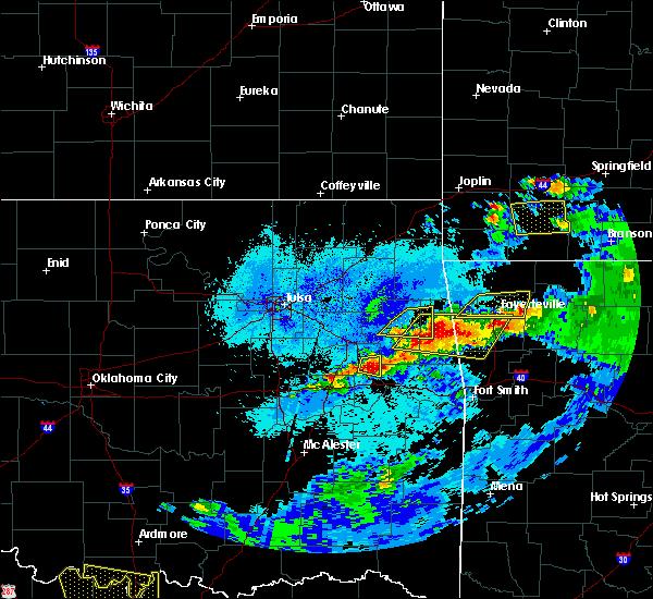 Radar Image for Severe Thunderstorms near Braggs, OK at 5/4/2020 9:00 PM CDT