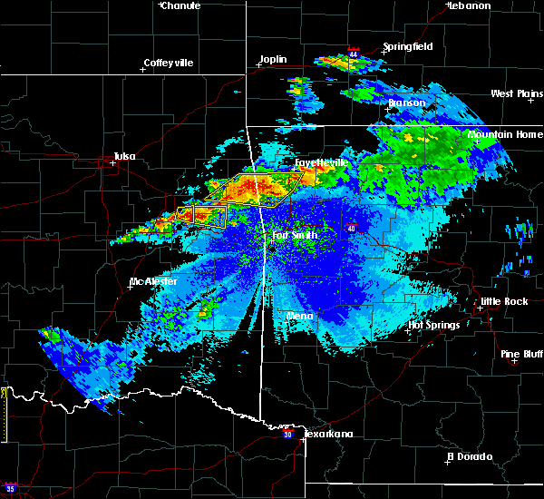 Radar Image for Severe Thunderstorms near Marietta, OK at 5/4/2020 9:08 PM CDT