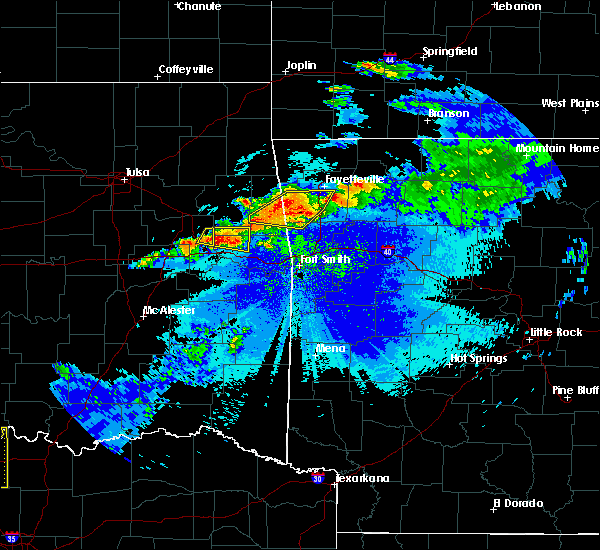 Radar Image for Severe Thunderstorms near Marble City, OK at 5/4/2020 9:15 PM CDT