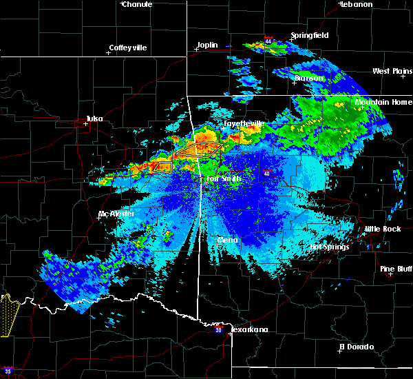 Radar Image for Severe Thunderstorms near Marble City, OK at 5/4/2020 9:24 PM CDT