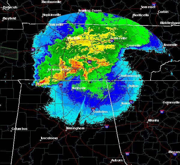 Radar Image for Severe Thunderstorms near Decherd, TN at 5/4/2020 9:25 PM CDT
