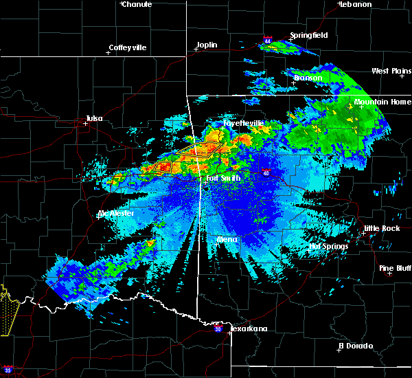 Radar Image for Severe Thunderstorms near Short, OK at 5/4/2020 9:32 PM CDT