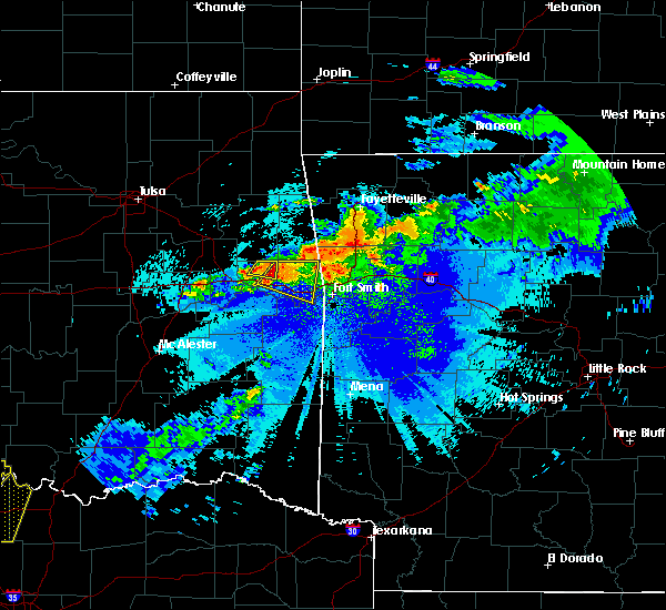 Radar Image for Severe Thunderstorms near Short, OK at 5/4/2020 9:36 PM CDT
