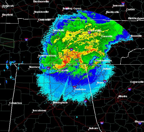 Radar Image for Severe Thunderstorms near Decherd, TN at 5/4/2020 9:48 PM CDT
