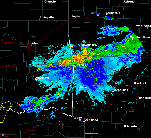 Radar Image for Severe Thunderstorms near Short, OK at 5/4/2020 9:49 PM CDT