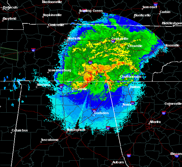 Radar Image for Severe Thunderstorms near New Hope, TN at 5/4/2020 10:00 PM CDT