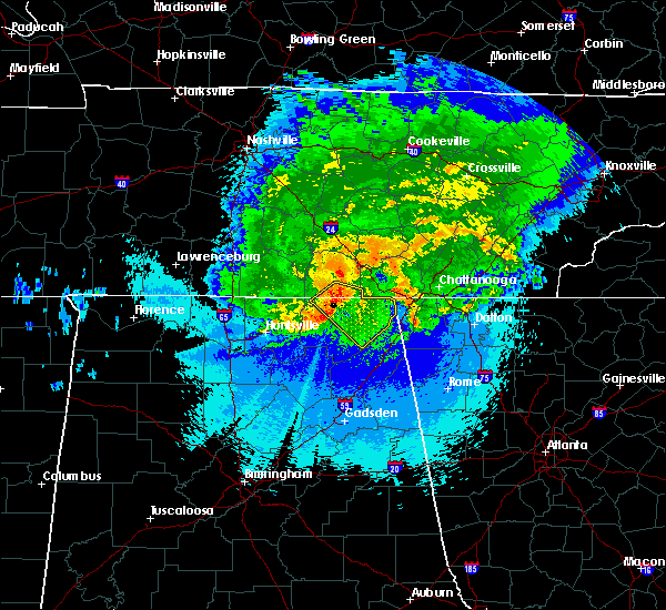 Radar Image for Severe Thunderstorms near Chattanooga, TN at 5/4/2020 10:06 PM CDT