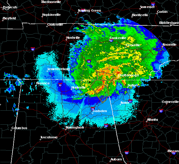 Radar Image for Severe Thunderstorms near Chattanooga, TN at 5/4/2020 11:32 PM EDT