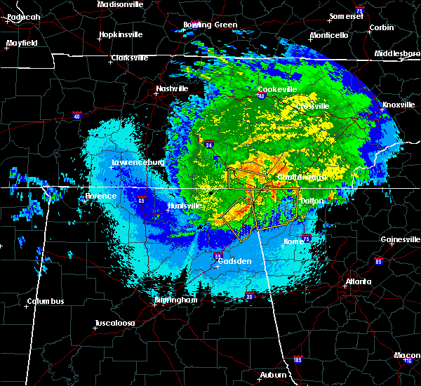 Radar Image for Severe Thunderstorms near Chattanooga, TN at 5/4/2020 10:36 PM CDT