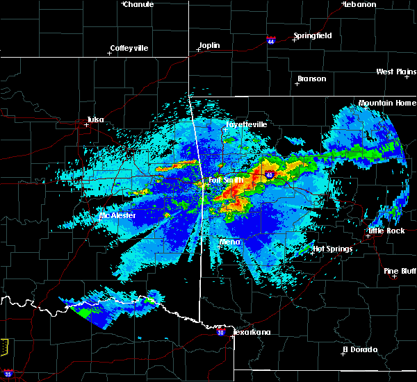 Radar Image for Severe Thunderstorms near Branch, AR at 5/4/2020 10:39 PM CDT