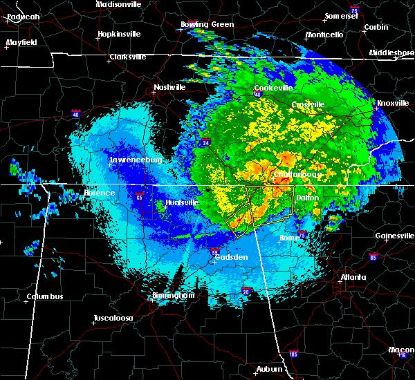 Radar Image for Severe Thunderstorms near Menlo, GA at 5/4/2020 11:53 PM EDT