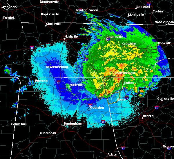 Radar Image for Severe Thunderstorms near Menlo, GA at 5/4/2020 11:58 PM EDT