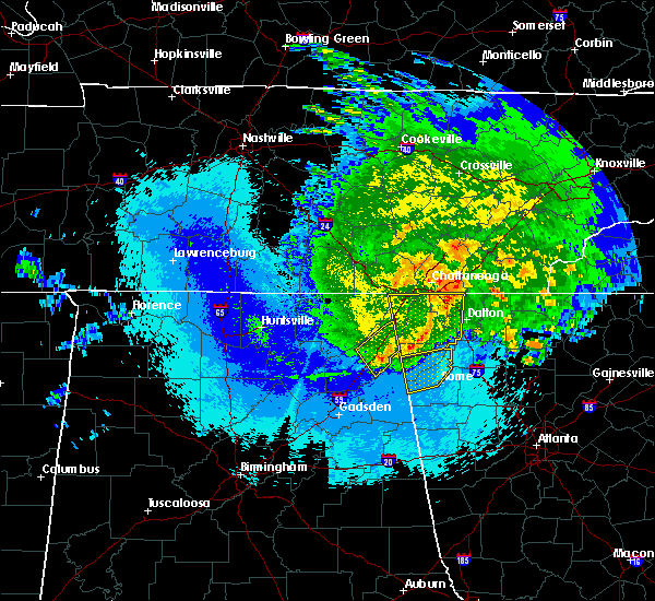 Radar Image for Severe Thunderstorms near LaFayette, GA at 5/4/2020 11:58 PM EDT