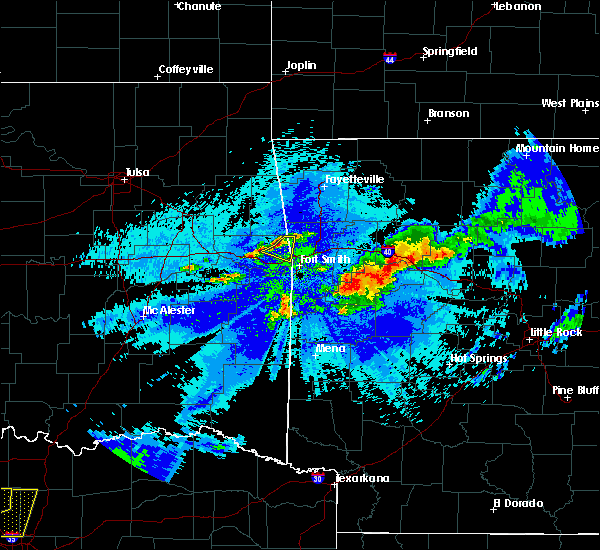 Radar Image for Severe Thunderstorms near Short, OK at 5/4/2020 11:00 PM CDT