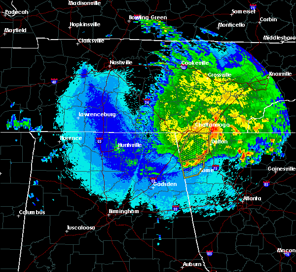 Radar Image for Severe Thunderstorms near Calhoun, GA at 5/5/2020 12:12 AM EDT