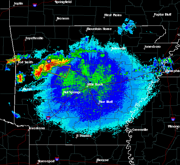 Radar Image for Severe Thunderstorms near New Blaine, AR at 5/4/2020 11:13 PM CDT