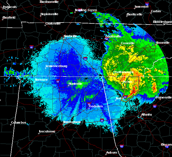 Radar Image for Severe Thunderstorms near Calhoun, GA at 5/5/2020 12:40 AM EDT