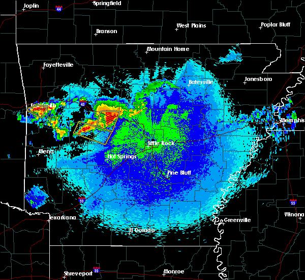 Radar Image for Severe Thunderstorms near Plumerville, AR at 5/4/2020 11:42 PM CDT