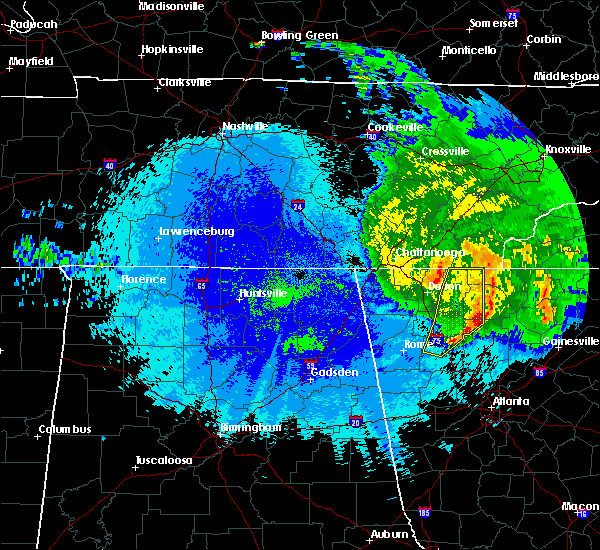 Radar Image for Severe Thunderstorms near Calhoun, GA at 5/5/2020 12:54 AM EDT